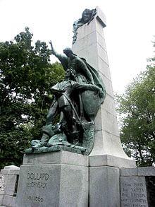 Picture of Adam Dollard Statue Lafontaine Park Montréal