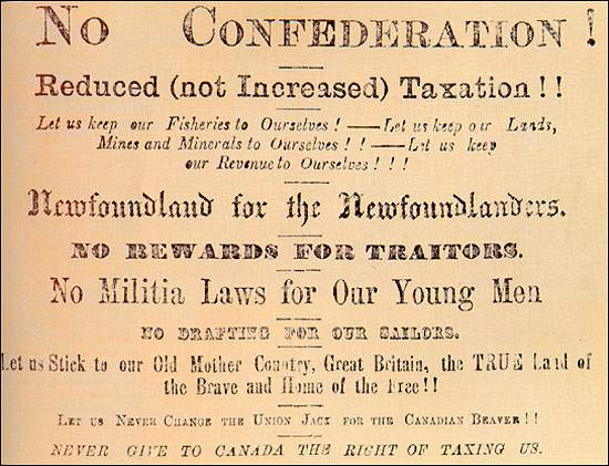 Old image of Anti Confederation Ad
