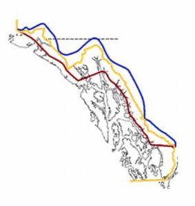 Canadian Alaska Boundary Dispute Map
