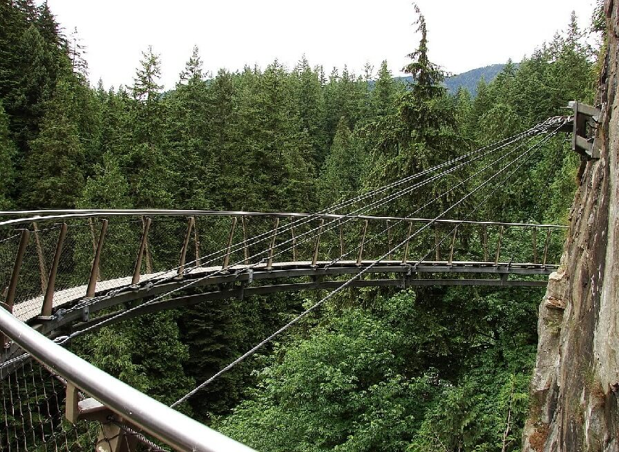 Capilano Suspension Bridge Cliffwalk.
