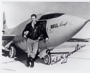 (autographed by Slick) of Goodlin and the X-1 was taken Dec 10. 1946 at the Muroc Army Air Corps Flight Test Centre in California