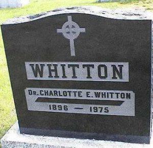 Charlotte Whitton Gravestone