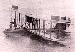 First women in flight Curtis HS-2L flying boat