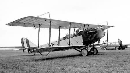 Canada first airmail flight Curtiss-JN4