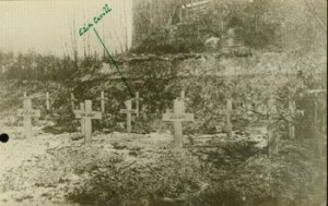 Old photo of Edith Cavell Grave