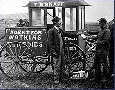 Early photo of Peddler Cart in Canada