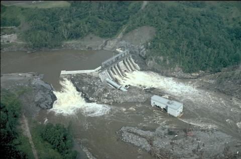 Jonquiere Dam during the Saguenay Flood