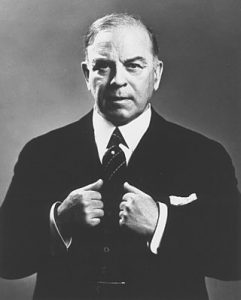 William Lyon Mackenzie King posing for picture