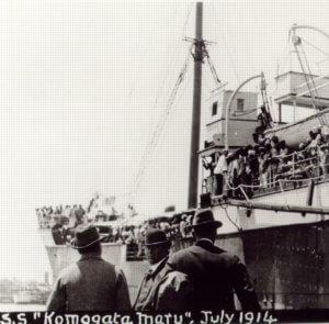 People around and on Komagata Maru July 1914