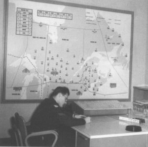 Norad North Bay Office with Soldier and Map