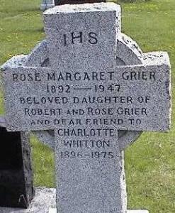 Rose Grier Grave Grier