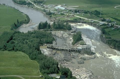 Arial view of the Saguenay Flood