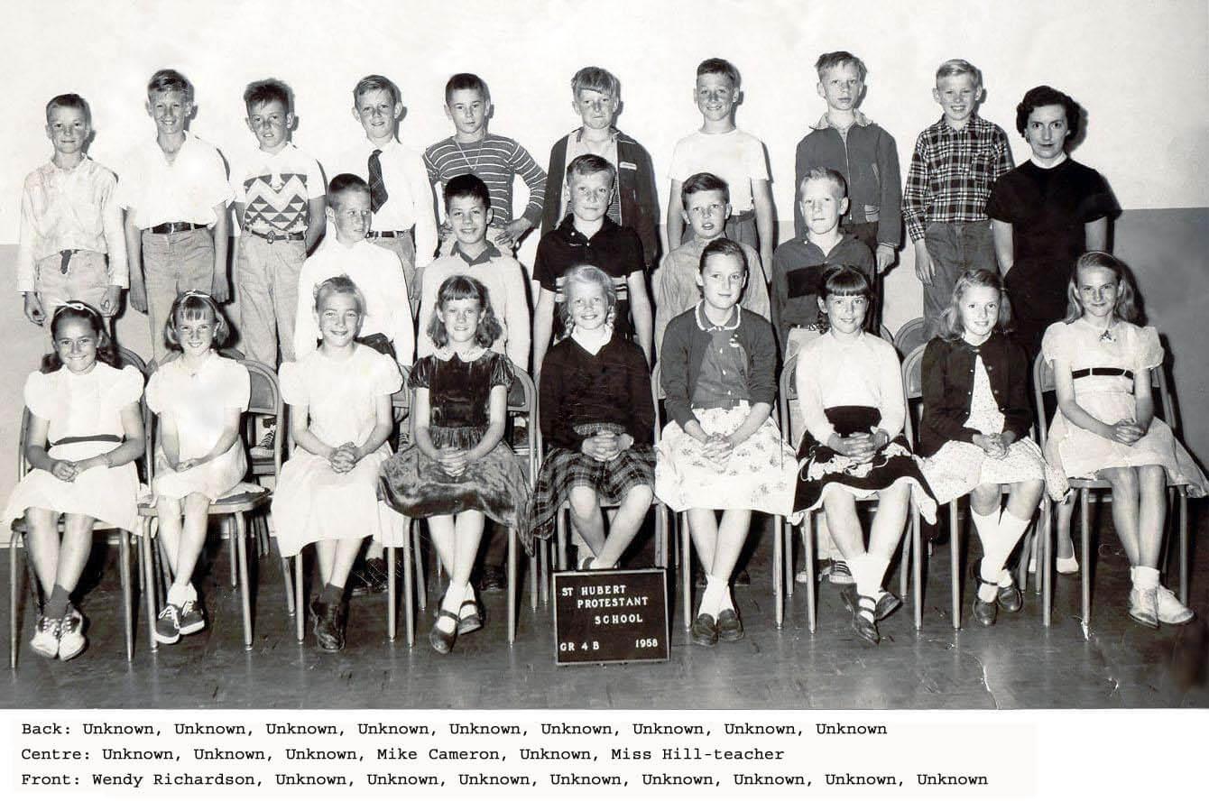Class Photo St. Hubert Class of 1958