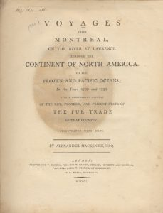 Image of Alexander Mackenzie Book Cover