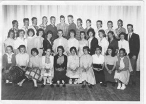 Class photo of Canadian Military Brats