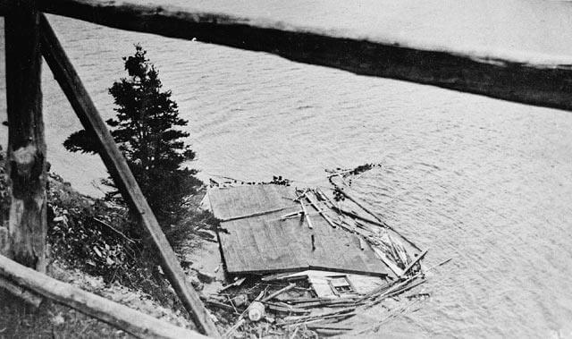 House leveled in tsunami of 1929 in canada.