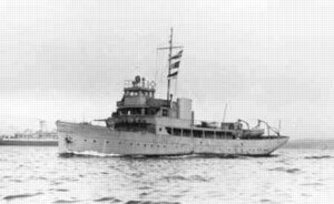 The armed yacht HMCS Raccoon