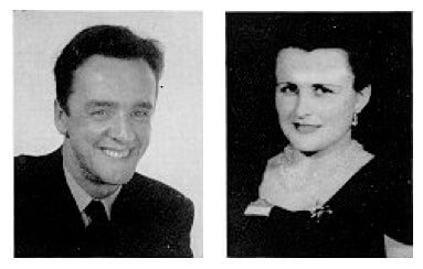 side by side photo of Joseph Guay and wife Rita Morel