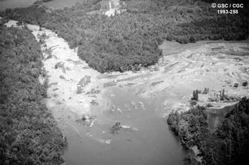 Arial photo of the Lemieux Slide Ontario Canada
