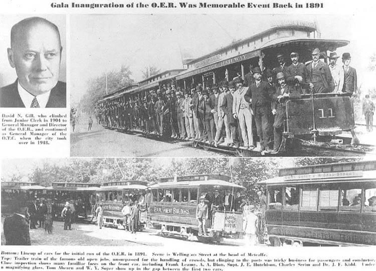 Thomas Ahern Newspaper first electric street car.