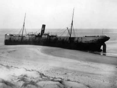Sable Island Shipwreck Beached