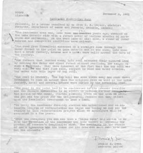 Sandbanks Provincial Park Letter