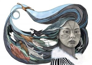 Drawing of Inuit Sedna