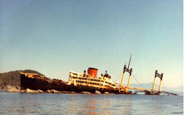 Picture of the vanlene ship wrecked