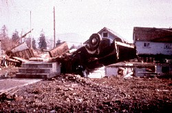 Destruction of Tsunami of 1964 Canada