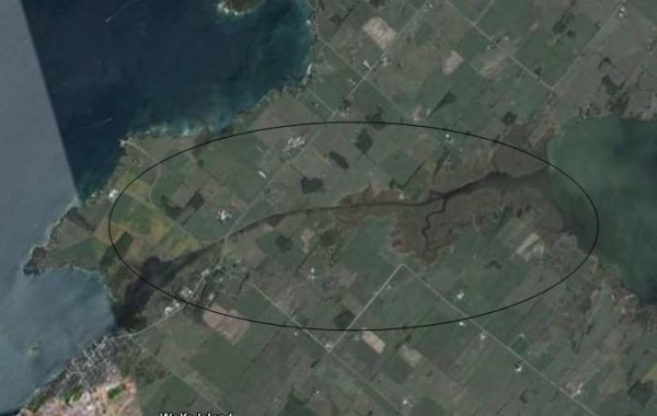 Wolfe Island Canal satellite image