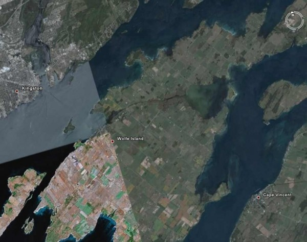 Wolfe Island Ferry satellite image