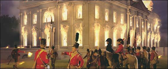 The White House Burns