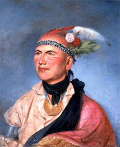 Chief Joseph Brant by Charles Willson Peale. Painted in Philadelphia in 1797