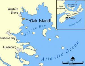 Where is Oak Island Map