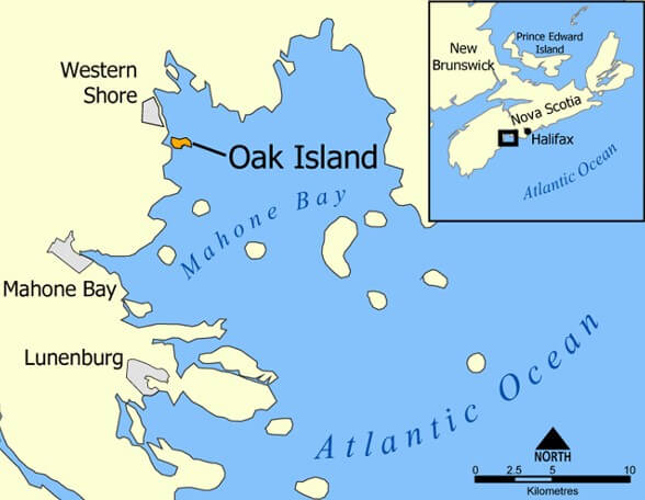 Map of Where is Oak Island Map