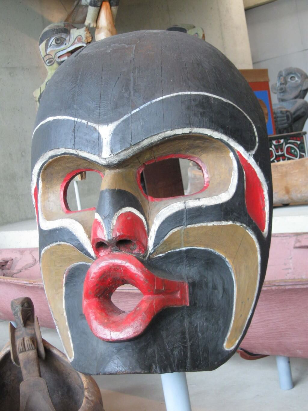 A cedar mask depicting Dzunukwa