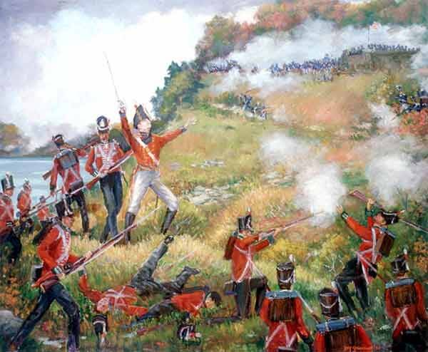 Painting of British Major-General Isaac Brock was mortally wounded in the Battle of Queenston Heights.