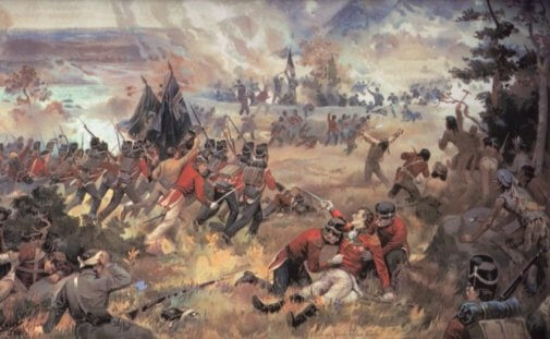Painting of The Battle of Queenston Heights.