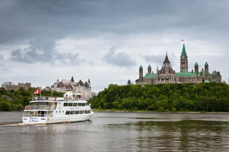 Ferry in the Ottawa River in the Capital of Canada