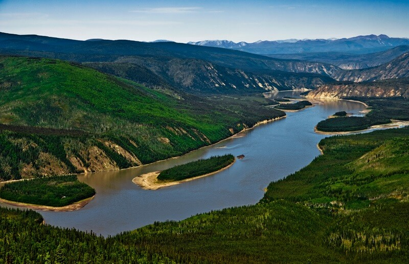 Ariel view of The Yukon River.