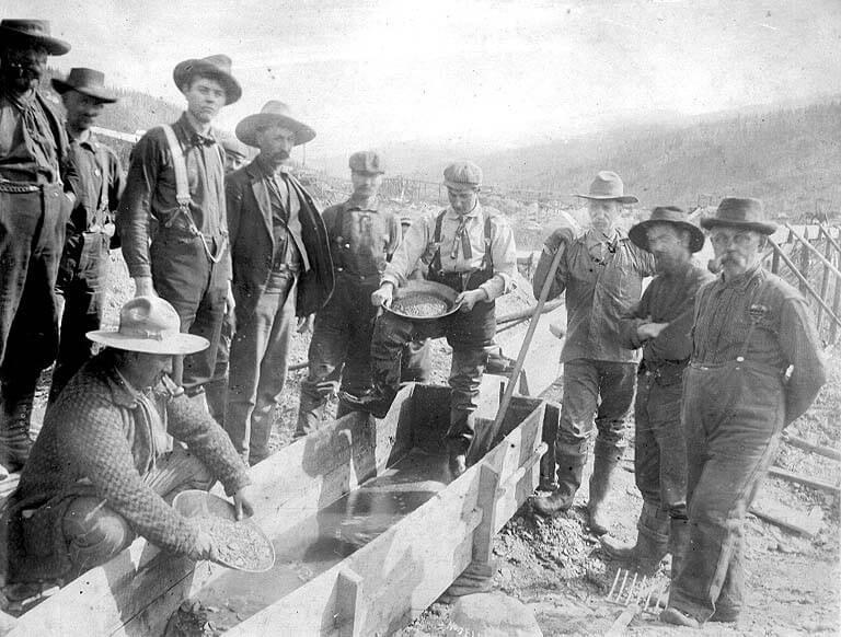 Prospectors on Eldorado Creek.