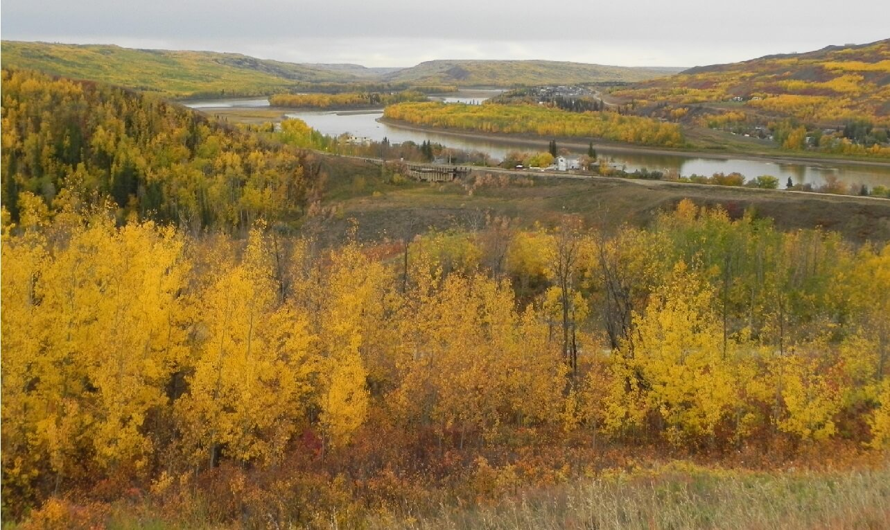 An Albertan stretch of the Peace River.