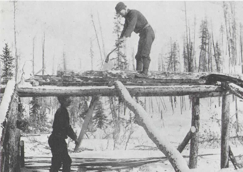 Many Stampeders dissolved their partnerships in the sawpits of Lake Bennett.
