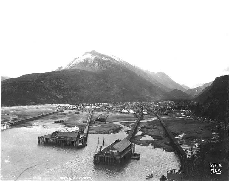 Skagway Bay on the Dyea Inlet.