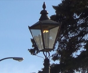 Some of Medicine Hat's famous gas lamps have been burning local natural gas day and night for over a century.