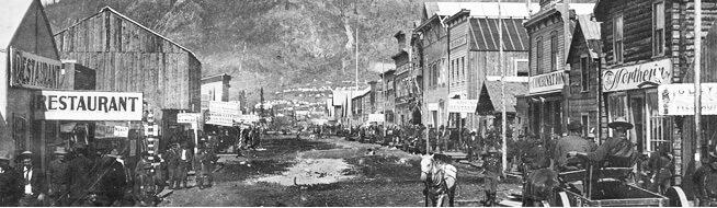 The Main Street of Dawson City, Yukon.