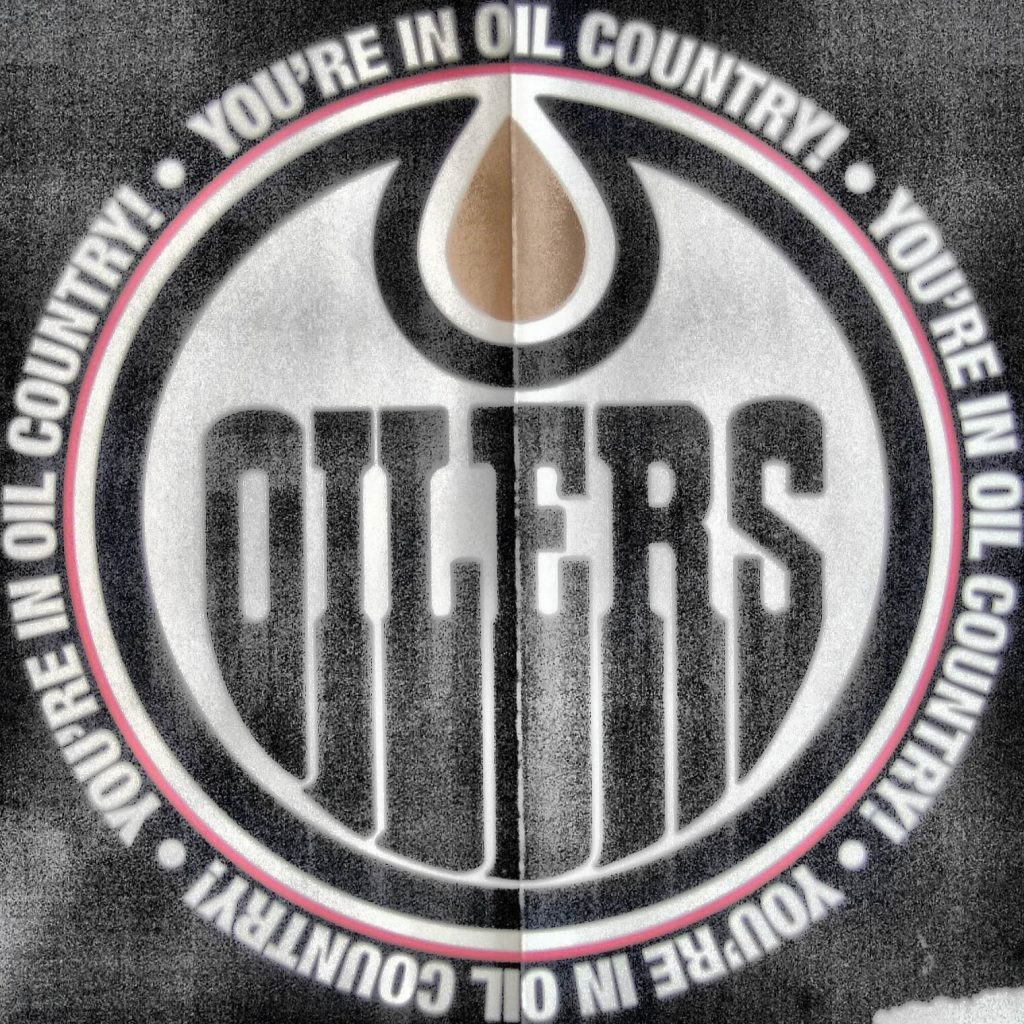 The Edmonton Oilers logo.