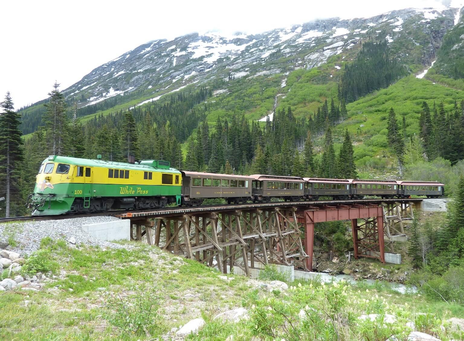 The White Pass Railway today.