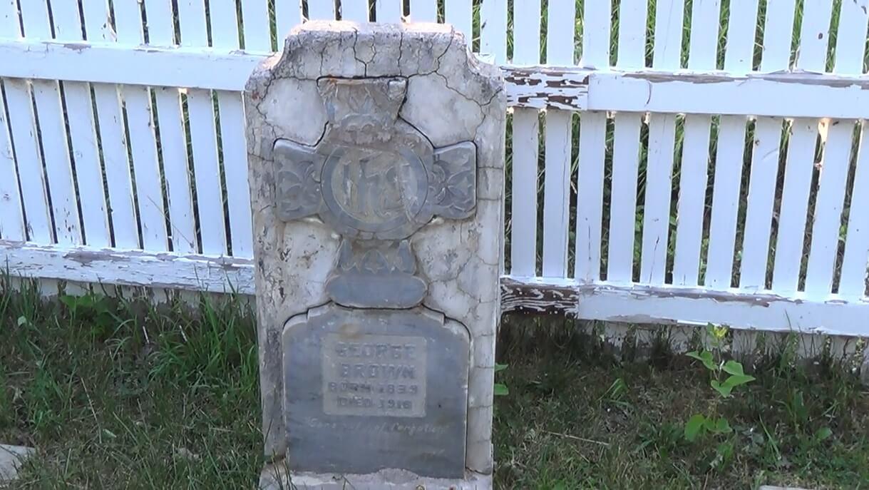 "The grave of John George ""Kootenai"" Brown in Waterton Lakes National Park."