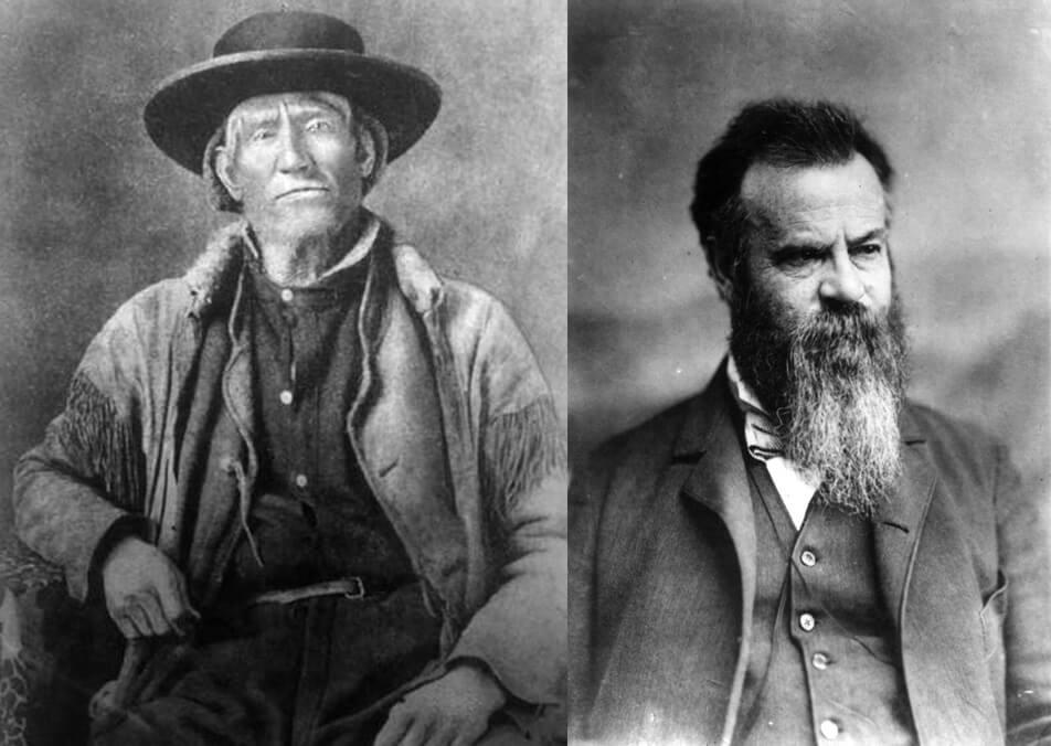 Jim Bridger and John Wesley Powell, two of young John Healy's idols.